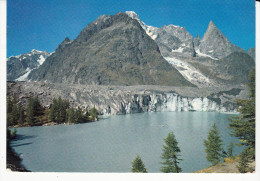 Italie / Valle D'Aosta Courmayeur-Val Veny Lac Et Glacier Du Miage Au Fond Le Mont-Blanc - Unclassified