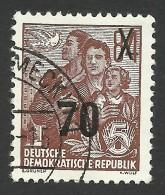 DDR, 70 pf. on 84 pf. 1954, Sc # 223, Mi # 442, used