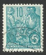 DDR, 10 pf. 1955, Sc # 227, Mi # 453, used