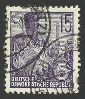 DDR, 15 pf. 1955, Sc # 227B, Mi # 454, used