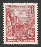 DDR, 20 pf. 1955, Sc # 228, Mi # 455, MH