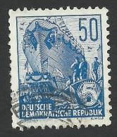 DDR, 50 pf. 1955, Sc # 230, Mi # 457, used