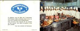 PUBLICITES - Double Carte Publicitaires - Restaurants De La Sarthe - Cuisiniers - Publicités