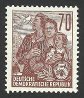 DDR, 70 pf. 1955, Sc # 230A, Mi # 458, MNH