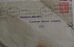 FRANCIA 1927, 50 CENT SUR ENVELOPPE - Storia Postale