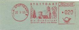 Nice Cut Meter Stuttgart Die Grossstadt Zwischen Wald Und Reben, Church, Stuttgart 20/9/1955 - Kerken En Kathedralen