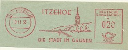 Nice Cut Meter ITZEHOE, Die Stadt Im Grunen, Church, Sailingship, Itzehoe 10/11/1955 - Vakantie & Toerisme