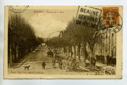 21 BEAUNE Attelage Transport Barriques Vin Avenue De La Gare 1928 Timb       /D11-2014 - Beaune