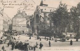 PARIS 1900 : L´EGLISE SAINT-MEDARD MARCHE 75005 - Arrondissement: 05