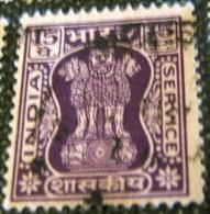 India 1968 Service Asokan Capital 15p - Used - Dienstzegels
