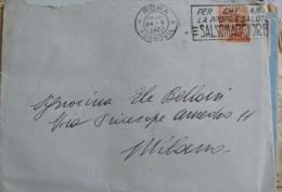 ITALIA REGNO 1926- VEIII CENT 60 SU BUSTA - 1900-44 Vittorio Emanuele III