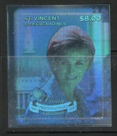ST VINCENT 1998 TIMBRE HOLOGRAPHIQUE DIANA YVERT N° NEUF MNH** - Royalties, Royals