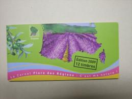 FRANCE - Carnet FLORE DES REGIONS : Flore Du Sud 1 N° 303 à 314 Adhésifs (2009) N** - Conmemorativos
