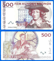 Suede 500 Couronnes 2009 Roi King Sweden Europe Billet Bitcoin Skrill Ppal OK - Suède