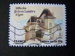 OBLITERE ANNEE 2013 N°865 VILLA DES FRERES LUMIERE A LYON TIMBRE DU CARNET PATRIMOINES DE FRANCE AUTOCOLLANT ADHESIF - France