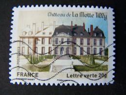 OBLITERE ANNEE 2013 N°869 CHATEAU DE LA MOTTE TILLY TIMBRE DU CARNET PATRIMOINES DE FRANCE AUTOCOLLANT ADHESIF - France