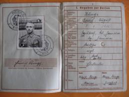 A Saisir!! SUPERBE Werhpas Et Doc D Un Oberfeldwebel Ww2  Original - 1939-45