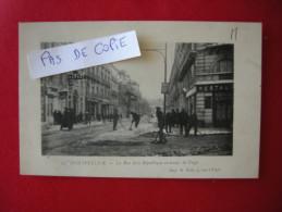 MONTPELLIER, La Rue De La République En Temps De Neige, écrite En 1915, Dos Divisé éditeur Imp A Rols - Montpellier