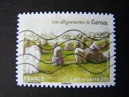 OBLITERE ANNEE 2013 N°873 LES ALIGNEMENTS DE CARNAC TIMBRE DU CARNET PATRIMOINES DE FRANCE AUTOCOLLANT ADHESIF - France