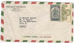 MEXIQUE - MEXICO - CORREO AEREO - POSTE AERIENNE -  AIR MAIL -  AEROPOSTALE -. - Buenos Aires (1858-1864)