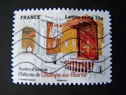 OBLITERE ANNEE 2013 N°872 CHAMBRE D'HONNEUR CHAMPS SUR MARNE TIMBRE DU CARNET PATRIMOINES DE FRANCE AUTOCOLLANT ADHESIF - France
