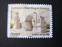 OBLITERE ANNEE 2013 N°874 LES ANTIQUES SAINT REMY DE PROVENCE TIMBRE DU CARNET PATRIMOINES DE FRANCE AUTOCOLLANT ADHESIF - France
