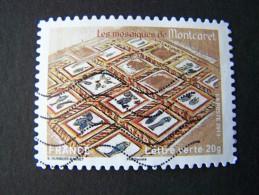 OBLITERE ANNEE 2013 N°875 LES MOSAIQUES DE MONTCARET TIMBRE DU CARNET PATRIMOINES DE FRANCE AUTOCOLLANT ADHESIF - France