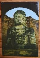 Pagan - Union Of Burma - Stone Effigy Of Lord Buddha - Petits Plis (haut) - (n°3896) - Myanmar (Burma)