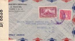 VENEZUELA 1949 - 2 Fach Frankierung Auf Zensur Luftpost-Brief Von Caracas > USA - Venezuela