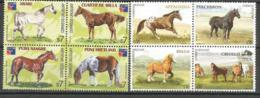 Chevaux De Race: Cheval Arabe,Pur-Sang,quarter Horse,Appaloosa,Percheron,Criollo,etc. 8 T-p Neufs ** Côte 24,00 € - Uruguay