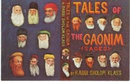Morris Katz Artist Signed 'Tales Of The Gaonim' Jewish Press Book, C1960s Vintage Postcard - Jewish