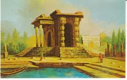 Morris Katz Artist Signed, Ancient Temple Building, C1960s Vintage Postcard - Jewish