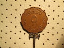 EGYPT 5 Milliemes 1938  FAROUK I   # 1 - Egypt