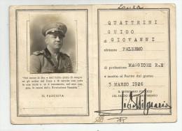 TESSERA PARTITO NAZ. FASCISTA ANNO XVI CON FOTO MILITARE - Documenten