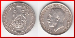 QUALITY ** GRANDE-BRETAGNE - GREAT-BRITAIN - 1 SHILLING 1915 - ONE SHILLING 1915 GEORGE V - SILVER ** ACHAT IMMEDIAT !!! - 1902-1971 : Post-Victorian Coins