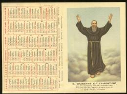 SANTINO CALENDARIETTO DEL 1957 - S.GIUSEPPE DA COPERTINO  PROTETTORE ESAMINANDI - OSIMO - Calendari