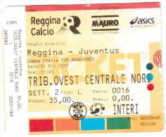 BIGLIETTO CALCIO TICKET FOOTBALL ITALIAN LEAGUE SERIE A REGGINA JUVENTUS 2002-03 - Biglietti D'ingresso