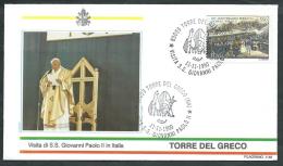 1990 VATICANO VIAGGI DEL PAPA TORRE DEL GRECO - SV2 - FDC