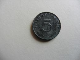 Allemagne : 5  Pfennig 1940  B  Deutsches Reich - [ 4] 1933-1945 : Third Reich