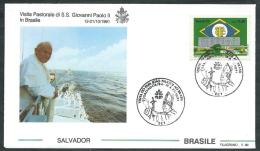 1991 VATICANO VIAGGI DEL PAPA BRASILE SALVADOR - SV2 - FDC