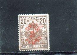 HAITI 1898 * DOUBLE SURCHARGE - Haïti