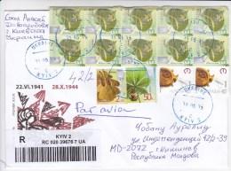 Ukraine To Moldova  , 2015 , Definitive , Plants , Used Cover - Ukraine