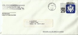 #UO84 29-cent Official Mail Stamped Envelope Stationery 1991 Cover - Officials