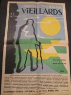 AFFICHE ANCIENNE JOURNEE NATIONALE DES VIEILLARDS 1953