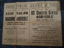 AFFICHE ANCIENNE GRANDE SEMAINE AGRICOLE DE PARIS 1954