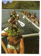 Oceanie - Polynesie Française - Tahiti - Grande Pirogue De Course (16 Hommes) De Tautira (2scann) - Französisch-Polynesien