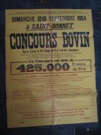 AFFICHE ANCIENNE CONCOURS BOVINS 1954