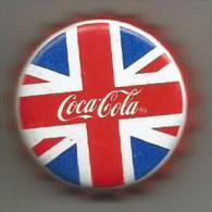 Broche  Capsule Coca Cola  Drapeau Anglais - Coca-Cola