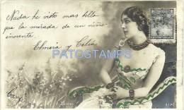 5641 ARTIST LINA CAVALIERI ITALY 1874 - 1944 SINGER OPERA SOPRANO GLITTER BY REUTLINGER PHOTO POSTAL POSTCARD - Artisti