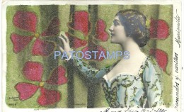 5643 ARTIST LINA CAVALIERI ITALY 1874 - 1944 SINGER OPERA SOPRANO BY REUTLINGER REAL PHOTO POSTAL POSTCARD - Artistes